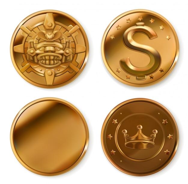 Goldene münzen.