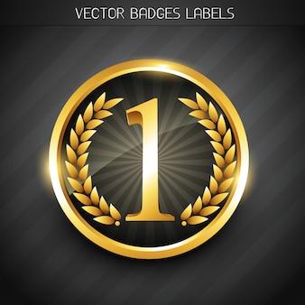 Goldene nummer eins etikett