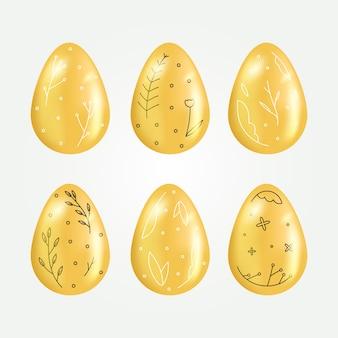Goldene ostereiersammlung