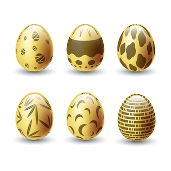 Goldene ostertag eiersammlung