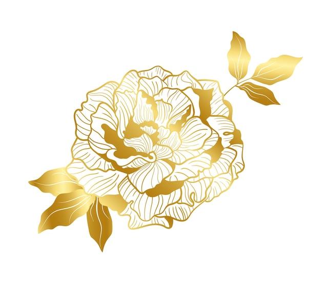 Goldene pfingstrose im orientalischen trend