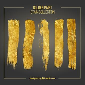 Goldene pinselstriche gesetzt