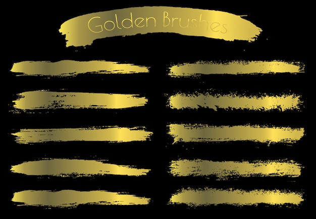 Goldene pinselstriche