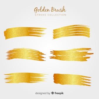 Goldene pinselstrichpackung