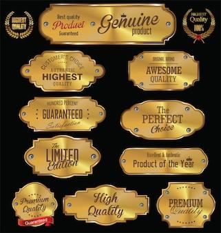Goldene platten premium-qualität goldene sammlung