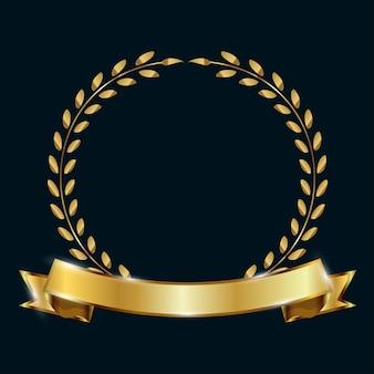 Goldene premium-promo-banner. vektor-illustration