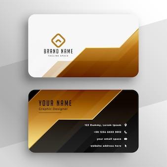 Goldene premium-visitenkarte im geometrischen stil