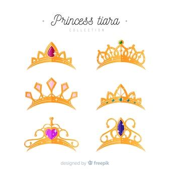 Goldene prinzessin tiara kollektion