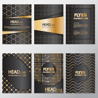 Goldene punkte flyer design