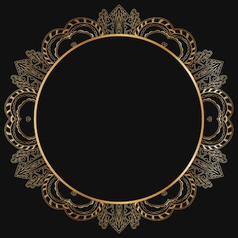 Goldene rahmen-design