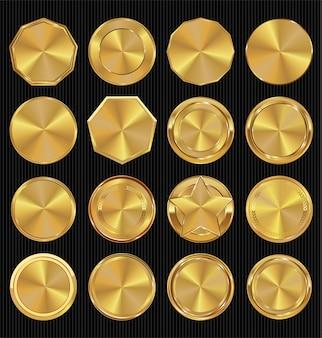 Goldene retro-abzeichen