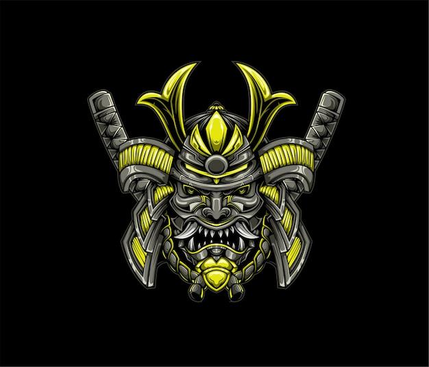 Goldene samurai-illustration