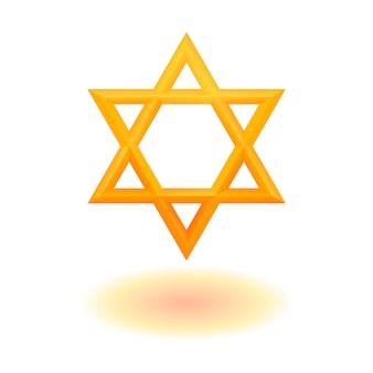 Goldene sechszackige geometrische sternfigur