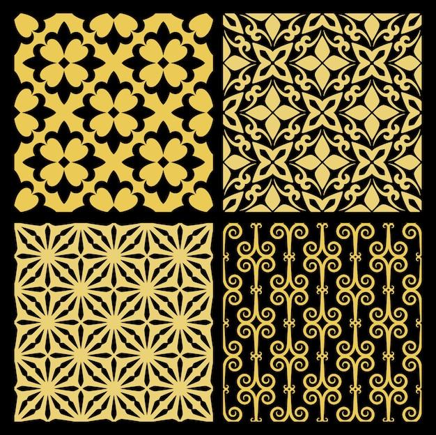 Goldene spanische traditionelle küchenfliesen