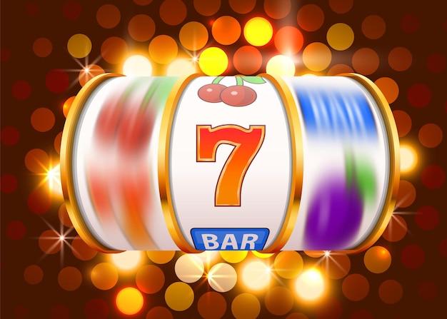 Goldene spielautomatenmünzen gewinnen den jackpot. 777 casino mit großen gewinnen