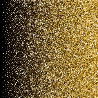 Goldene steigung des funkelns mit zerstreuten scheinen
