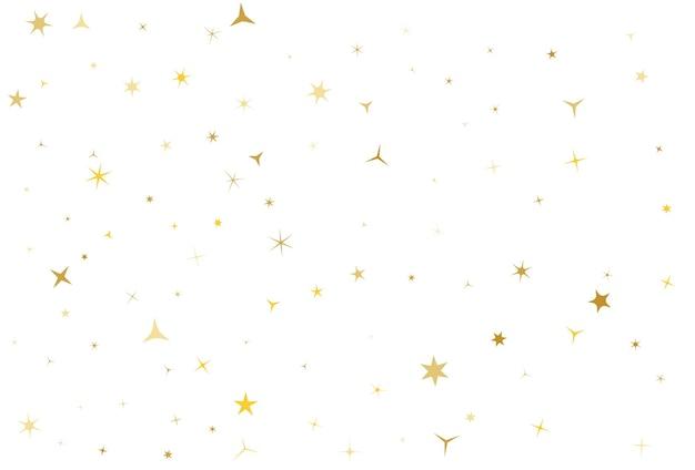 Goldene sterne auf weißem hintergrund