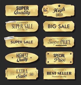 Goldene teller premium-qualität goldene kollektion