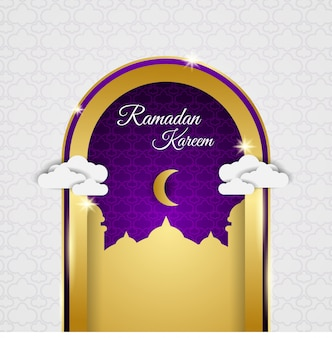 Goldene türentwürfe im monat ramadan