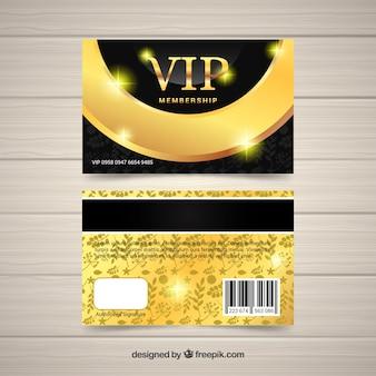 Goldene vip-karte