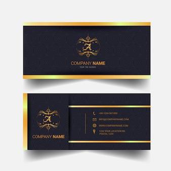 Goldene visitenkarte entwurfsvorlage