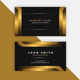 Goldene visitenkartenvorlage