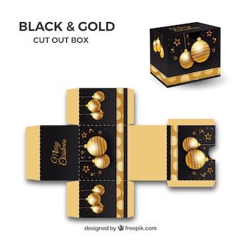 Goldene weihnachtsbox