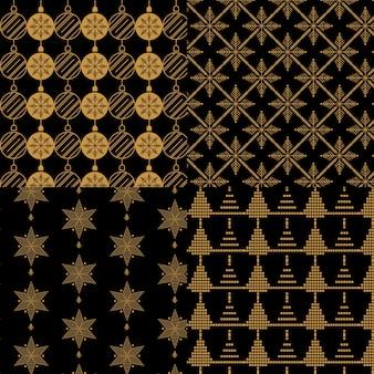 Goldene weihnachtsmustersammlung