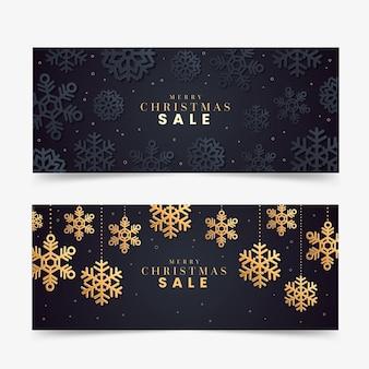 Goldene weihnachtsverkaufsbanner