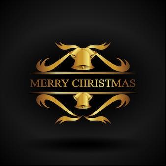 Goldene weihnachtsverzierung