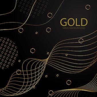 Goldene wellen-hintergrund-schablone