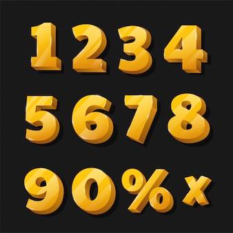 Goldene zahlen für ermäßigte werbetafeln, die schön aussehen.