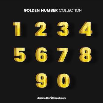 Goldene zahlensammlung