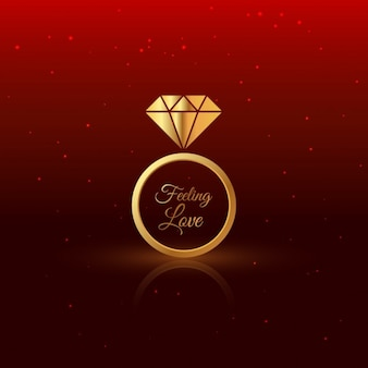 Goldenen Diamantring