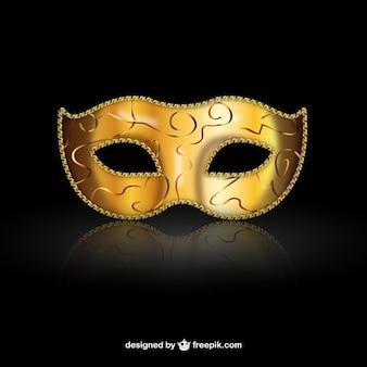Goldenen venezianischen maske