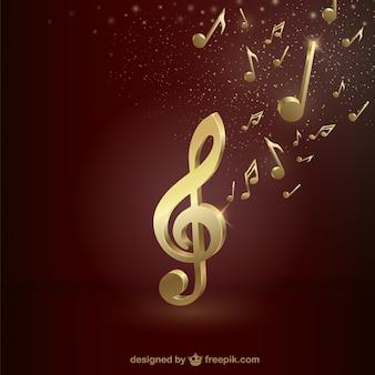 Goldenen violinschlüssel
