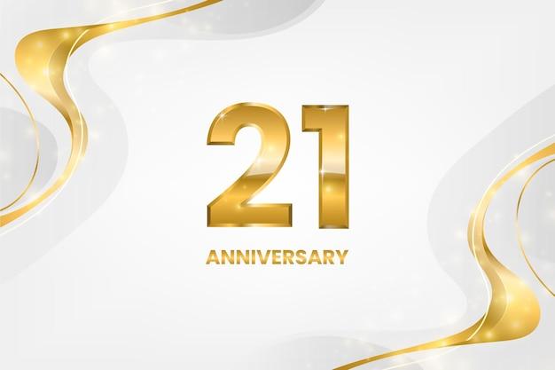 Goldener 21-jähriger jubiläumshintergrund
