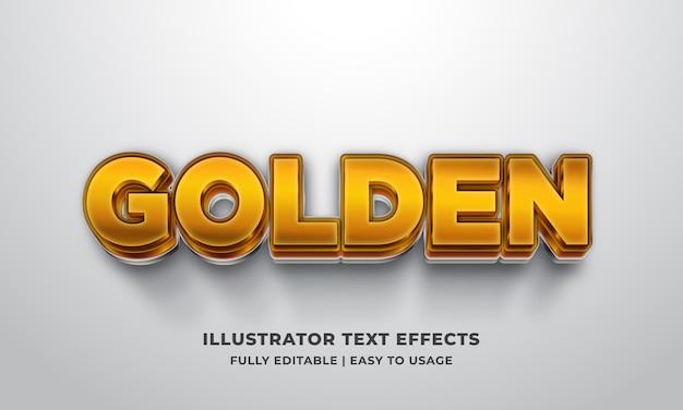 Goldener 3d-textstil-effekt