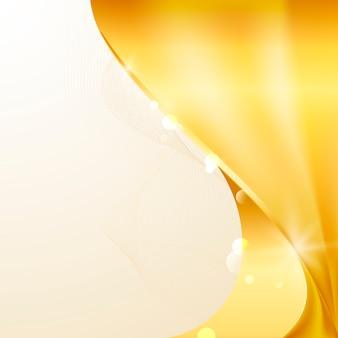Goldener abstrakter hintergrundvektor der welle