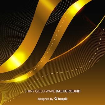 Goldener abstrakter wellenförmiger hintergrund