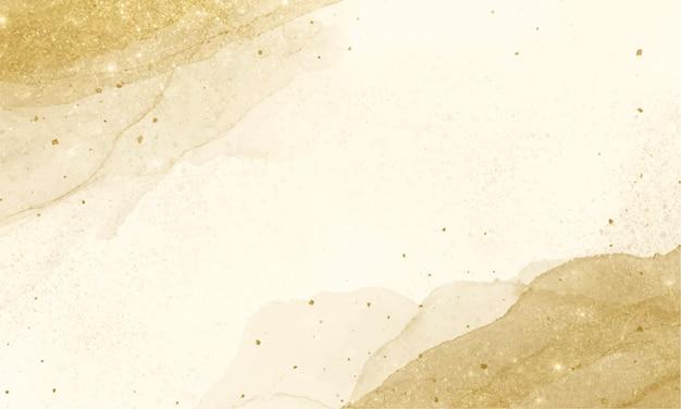 Goldener alkoholtintenhintergrund. abstrakte fließende kunstmalerei.