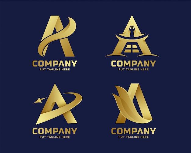 Goldener anfangsbuchstabe eine logosammlung