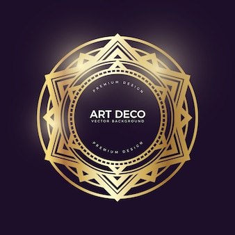 Goldener art-deco-banner