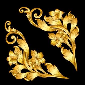 Goldener barocker art rahmen scroll