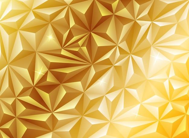 Goldener berg polygonalen konzepthintergrund