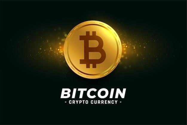 Goldener bitcoin-kryptowährungs-münzhintergrund