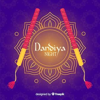 Goldener blume dandiya hintergrund