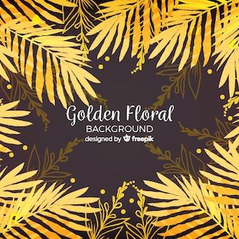 Goldener Blumenhintergrund