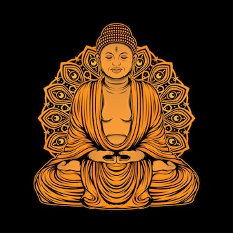Goldener buddha-statuenentwurf