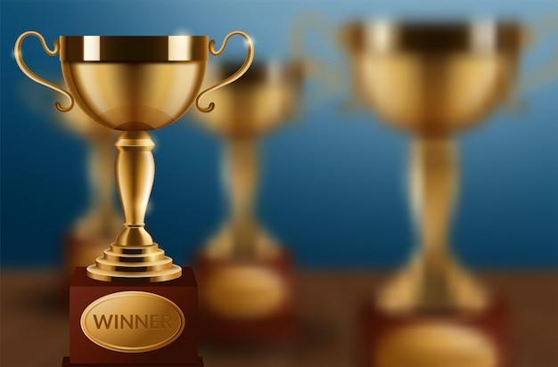 Goldener champion cup isoliert
